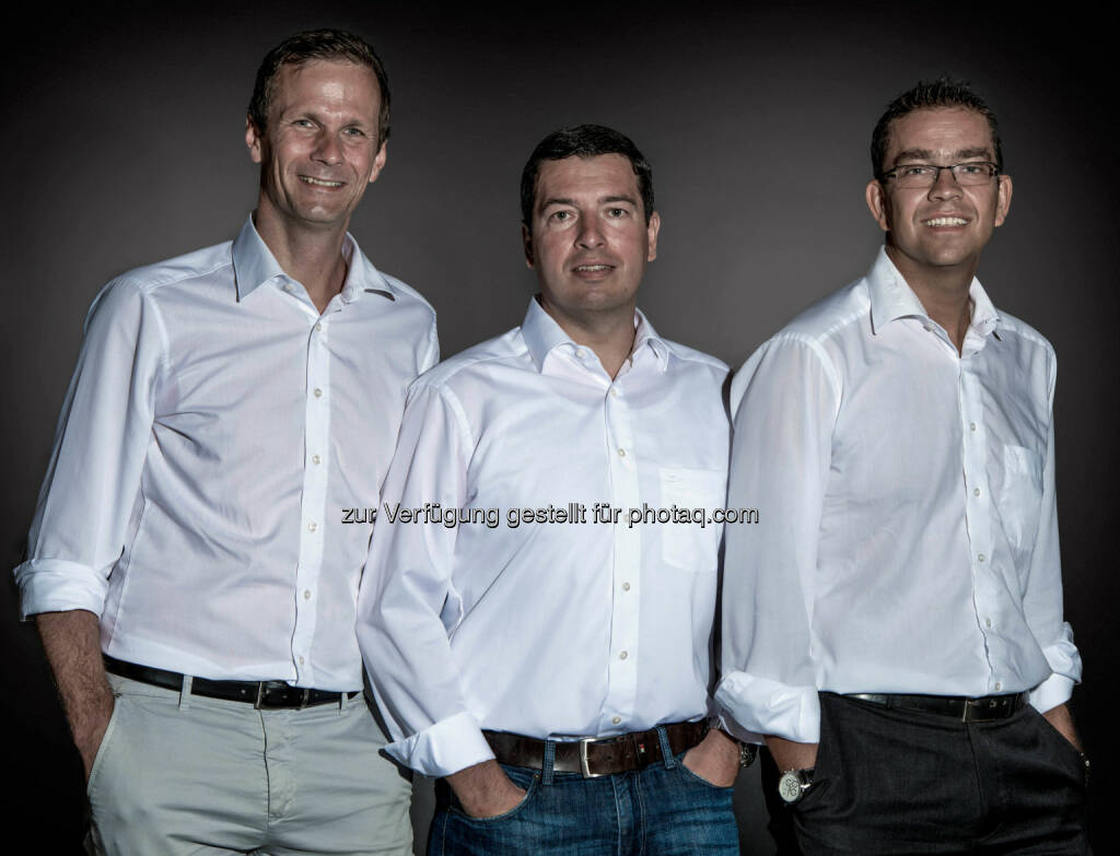 Klaus Huttary (links), Roland Leuprecht (mitte) und Jakob Lohfeyer (rechts), Konzept Schmiede: Neuer Dienstleister für Immobilienfinanzierungen in Anif gegründet. (C)  Sebastien Ouvrard , © Aussender (16.11.2015)