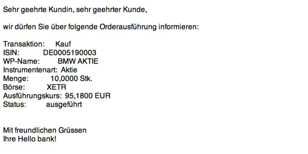 Tag 94: Kauf 10 BMW zu 95,18 (16.11.2015)