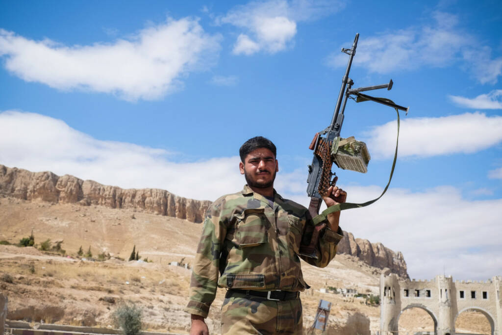 Syrien, Soldat, Krieg, Waffen, kämpfen, <a href=http://www.shutterstock.com/gallery-3278237p1.html?cr=00&pl=edit-00>Volodymyr Borodin</a> / <a href=http://www.shutterstock.com/editorial?cr=00&pl=edit-00>Shutterstock.com</a>, Volodymyr Borodin / Shutterstock.com, © www.shutterstock.com (17.11.2015)