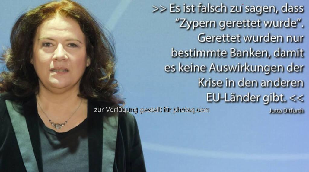 Jutta Ditfurth mit Sager zu Zypern für http://www.puls4.com/austrianews/Pro-und-Contra-Zitate-vom-25-03-2013/artikel/11738 (c) Puls 4 (26.03.2013)