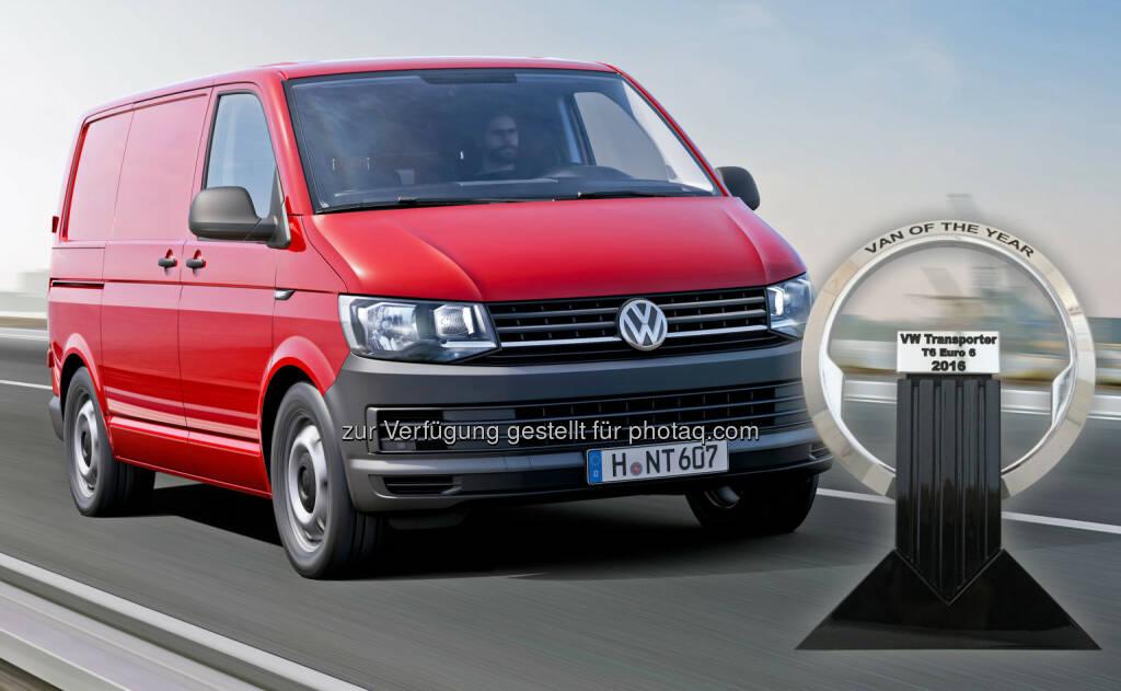 VW Transporter : Volkswagen Nutzfahrzeuge: Der Transporter ist International Van of the Year : Fotocredit: VW Volkswagen Nutzfahrzeuge AG, © Aussendung (18.11.2015)