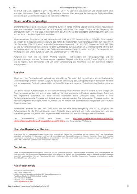 Rosenbauer Quartalsergebnisse 3/2015, Seite 2/3, komplettes Dokument unter http://boerse-social.com/static/uploads/file_484_rosenbauer_quartalsergebnisse_32015.pdf (19.11.2015)