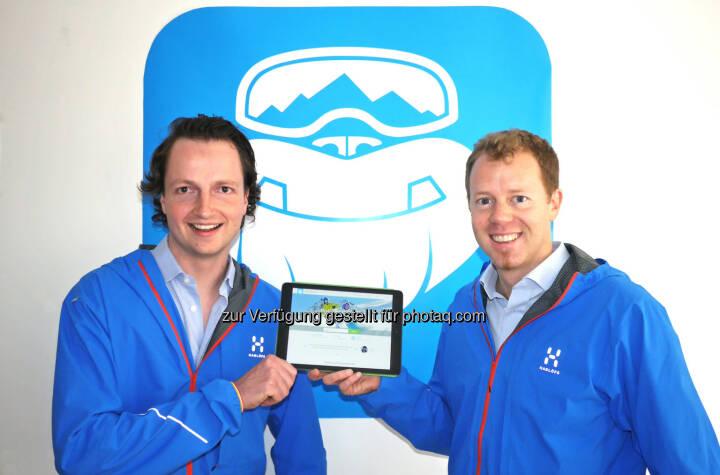 Stefan Pinggera und Georg Reich, CheckYeti.com: Österreichisches Start-up CheckYeti startet mit neuer Buchungsplattform für Wintersportaktivitäten durch. (C) CheckYeti