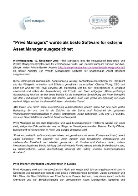Prive Managers als beste Software für externe Asset Manager prämiert, Seite 1/2, komplettes Dokument unter http://boerse-social.com/static/uploads/file_486_prive_managers_als_beste_software_fur_externe_asset_manager_pramiert.pdf (19.11.2015)
