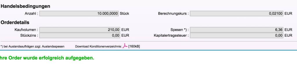 Tag 97: Kauf 10.000 Piräeus Bank (19.11.2015)