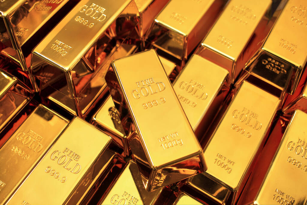 Goldbarren, Gold http://www.shutterstock.com/de/pic-156792248/stock-photo-many-gold-bars-or-ingot.html, © www.shutterstock.com (20.11.2015)