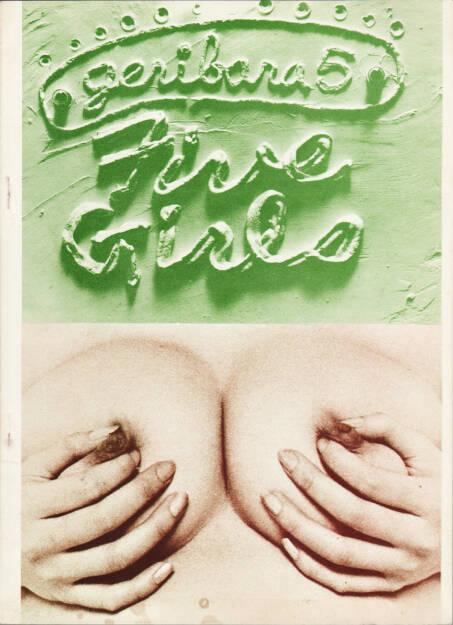 Nobuyoshi Araki - Geribara 5 - Five Girls, Fukushu-Shudan, Geribara-5 1972, Cover - http://josefchladek.com/book/nobuyoshi_araki_-_five_girls_荒木経惟_ファイブ_ガールズ, © (c) josefchladek.com (20.11.2015)
