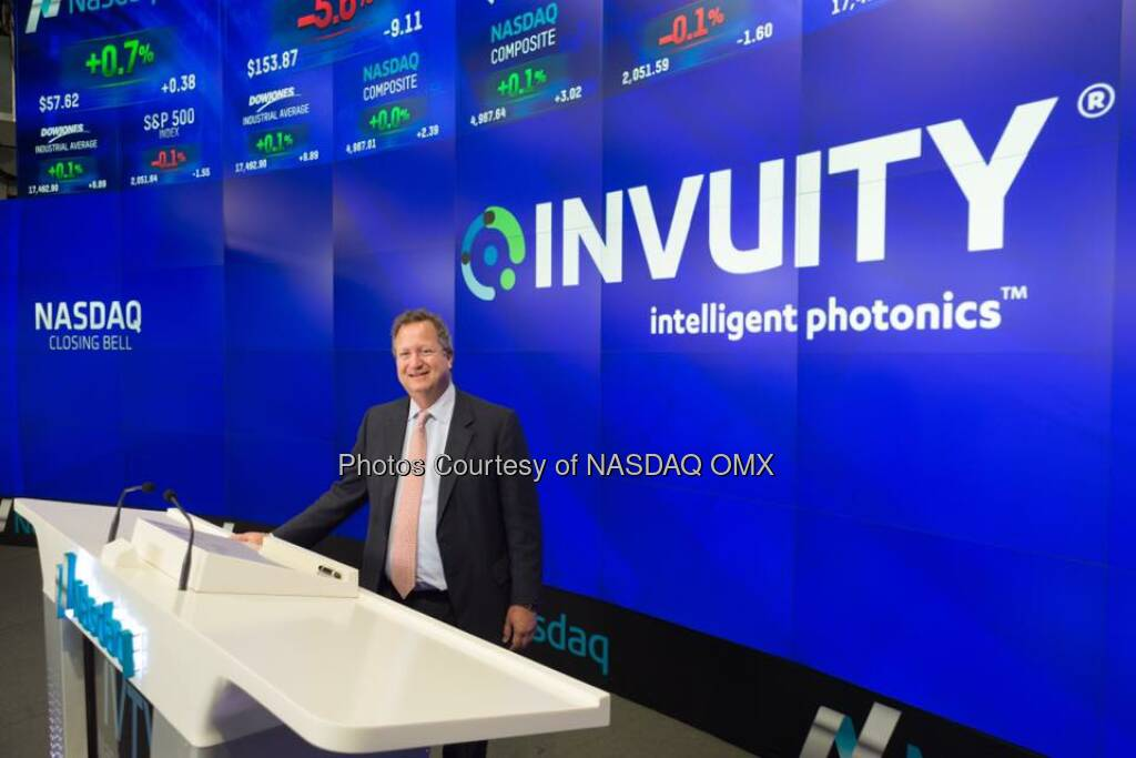 ICYMI great photos of Invuity, Inc. ringing the Nasdaq Bell this week!   Source: http://facebook.com/NASDAQ (22.11.2015)