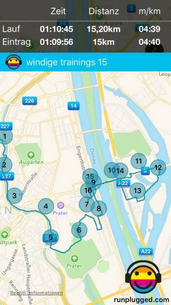Auf der Flucht vor dem Wind mit http://www.runplugged.com/app (22.11.2015)