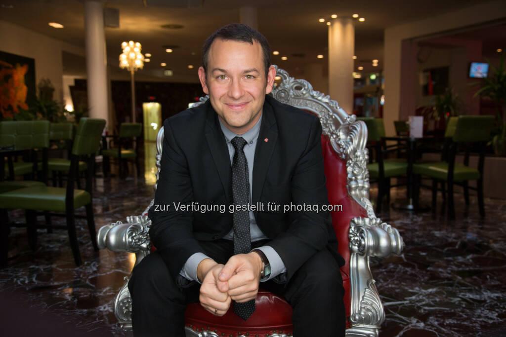 Philipp Pratl : Seit Anfang November neuer General Manager im Arcotel Kaiserwasser Wien : Fotocredit: Arcotel Hotels/Bauer, © Aussendung (23.11.2015)