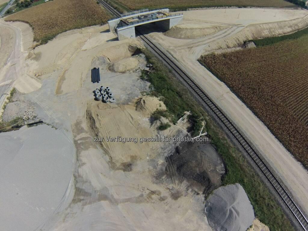 A 5 Nord/Weinviertel Autobahn: Brücke - Spange Mistelbach : Asfinag: Umfahrung Drasenhofen – positive Umweltverträglichkeits-Prüfung : Fotocredit: Asfinag, © Aussendung (24.11.2015)