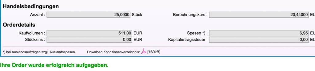 Tag 100: Kauf Knock-Out C/EUR/USD USD 0,8500 29.01.2016 Deutsche Bank für 100/100 (24.11.2015)