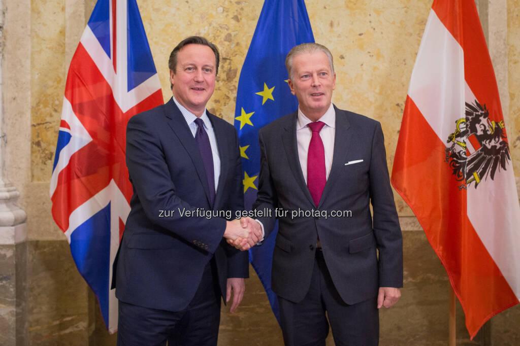 David Cameron und Reinhold Mitterlehner: Bundesministerium für Wissenschaft, Forschung und Wirtschaft: Vizekanzler Mitterlehner traf britischen Premierminister Cameron: Wir brauchen ein starkes Großbritannien in der Europäischen Union  (27.11.2015)