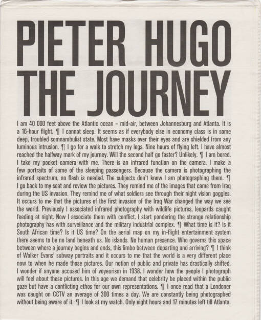 Pieter Hugo - The Journey, Self published 2015, Cover - http://josefchladek.com/book/pieter_hugo_-_the_journey, © (c) josefchladek.com (30.11.2015)
