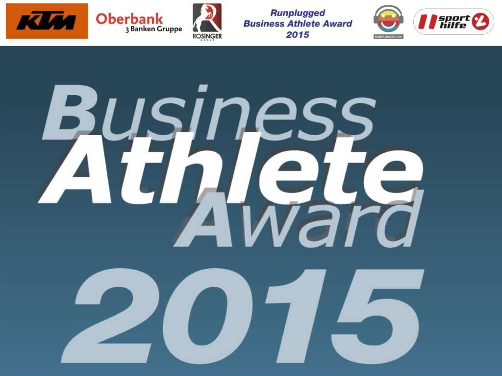 Business Athlete Award 2015 (01.12.2015)
