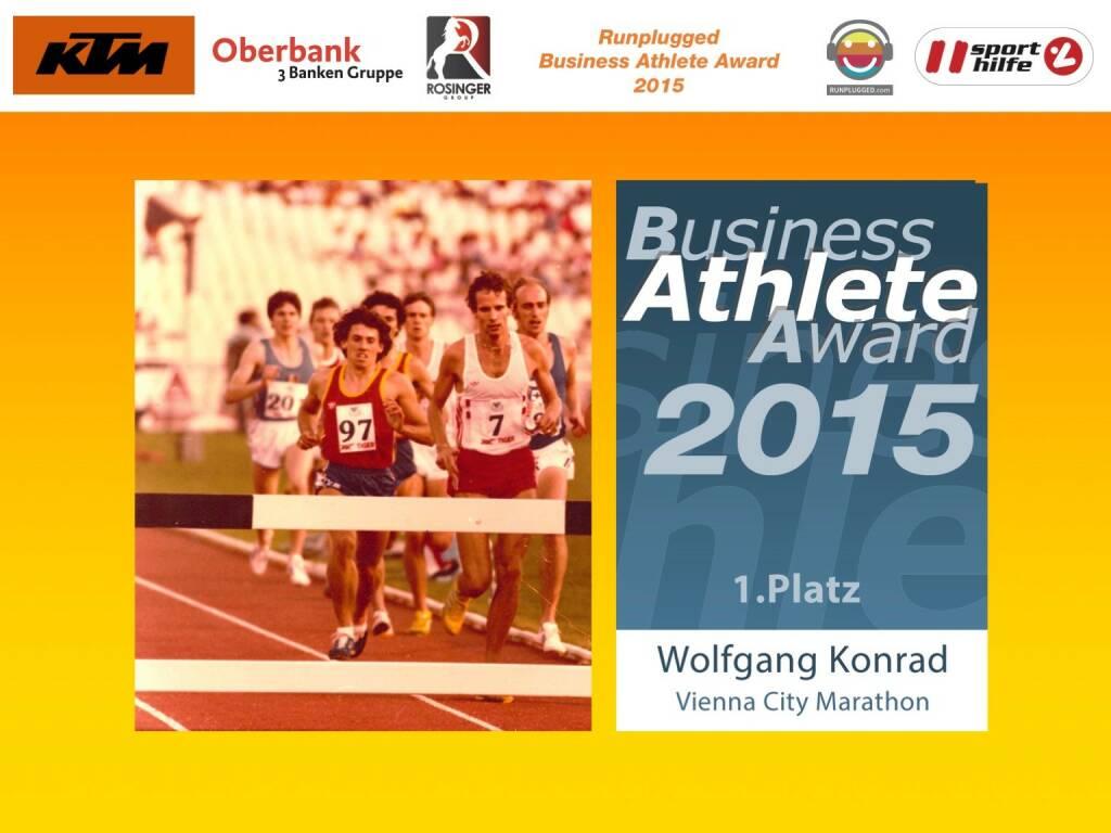 Wolfgang Konrad, Platz 1 (01.12.2015)