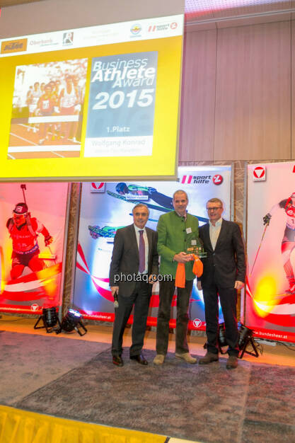 Hans Huber, Wolfgang Konrad (VCM), Friedrich Roithner (KTM), © Martina Draper/photaq (02.12.2015)