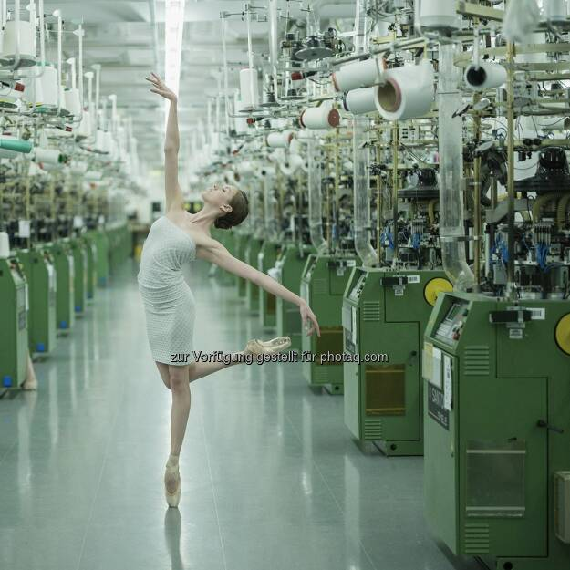 Ballerina Project at the Wolford headquarters and factory in #Bregenz, #Austria.  Source: http://facebook.com/WolfordFashion, © Aussendung (06.12.2015)