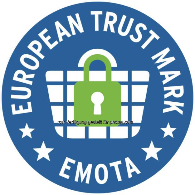 European Trust Mark-Logo : Das Österreichische E-Commerce-Gütezeichen erfüllt durch seine strengen Kriterien den Europa-Standard des European Trustmark : Online-Shops, die die Gütezeichen-Zertifizierung erfolgreich abgeschlossen haben, sind automatisch berechtigt, das European Trustmark zu tragen : Fotocredit: European Trust Mark, © Aussender (09.12.2015)