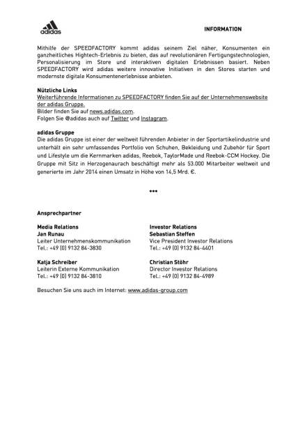 adidas errichtet erste Speedfactory in Deutschland, Seite 2/2, komplettes Dokument unter http://boerse-social.com/static/uploads/file_513_adidas_errichtet_erste_speedfactory_in_deutschland.pdf (09.12.2015)