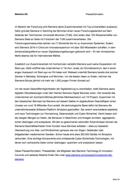 Siemens steigert Investitionen für Forschung und Entwicklung , Seite 3/4, komplettes Dokument unter http://boerse-social.com/static/uploads/file_514_siemens_steigert_investitionen_für_forschung_und_entwicklung.pdf (09.12.2015)