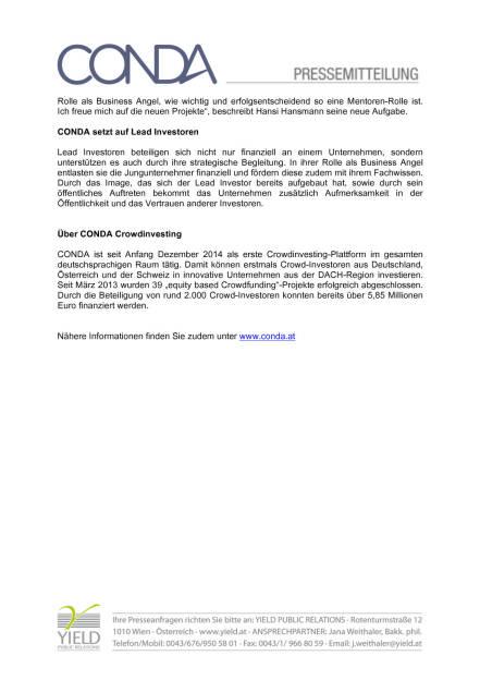 Hansi Hansmann im Conda Advisory Board, Seite 2/2, komplettes Dokument unter http://boerse-social.com/static/uploads/file_516_hansi_hansmann_im_conda_advisory_board.pdf (09.12.2015)