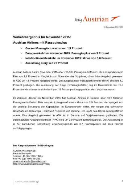 Austrian Airlines Verkehrsergebnis 11/2015, Seite 1/2, komplettes Dokument unter http://boerse-social.com/static/uploads/file_517_austrian_airlines_verkehrsergebnis_112015.pdf (09.12.2015)