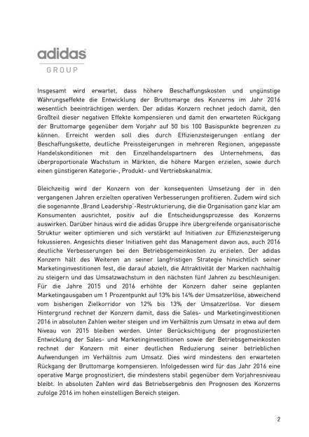 adidas erwartet für 2016 stabile operative Marge, Seite 2/4, komplettes Dokument unter http://boerse-social.com/static/uploads/file_518_adidas_erwartet_fur_2016_stabile_operative_marge.pdf (09.12.2015)