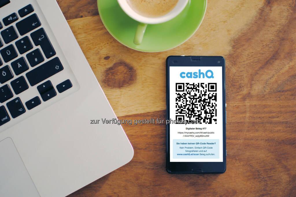 Digitale Belege als Email, SMS und QR-Code teilen : Grüne Kassa liebt Bargeld und Bitcoin : In Österreich kommt die Registrierkassenpflicht : Und mit ihr kommen nicht nur mehr Steuern, sondern auch mehr Kassenbelege und damit mehr Müll : cashQ ist die Kassa für das Smartphone, die Müll vermeidet, Bäume pflanzt und neben Bargeld auch Bitcoin akzeptiert : Fotocredit: Kreativjob/Mandl, © Aussendung (10.12.2015)