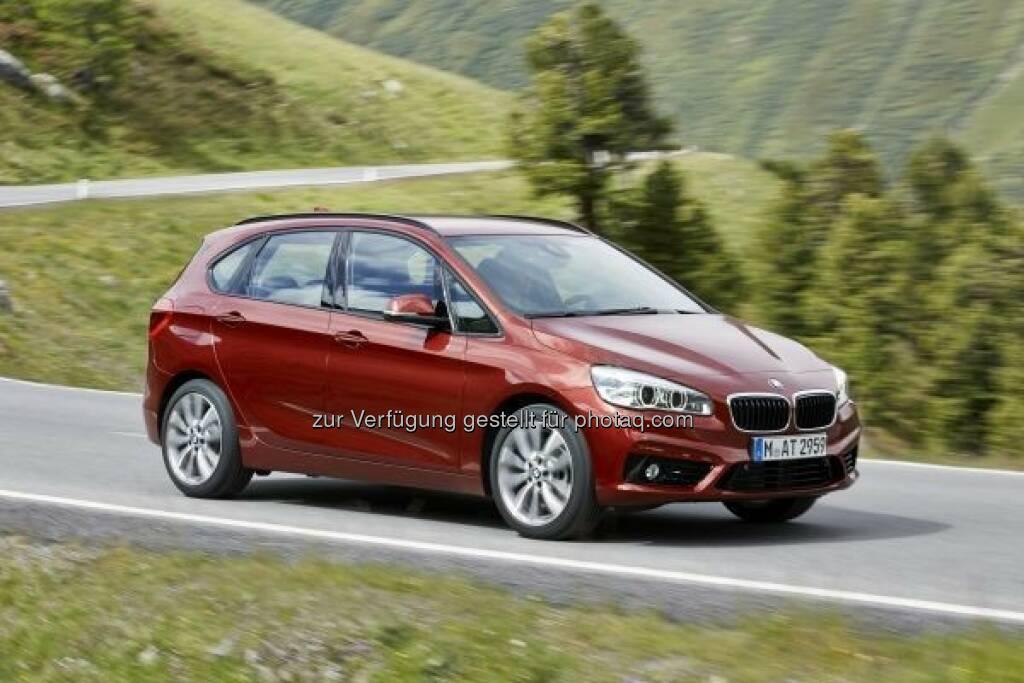 Der neue BMW 218 d Active Tourer : BMW Group erzielt im November neuen Absatzrekord - 6,9% Absatzwachstum seit Jahresbeginn : © BMW Group, © Aussendung (10.12.2015)