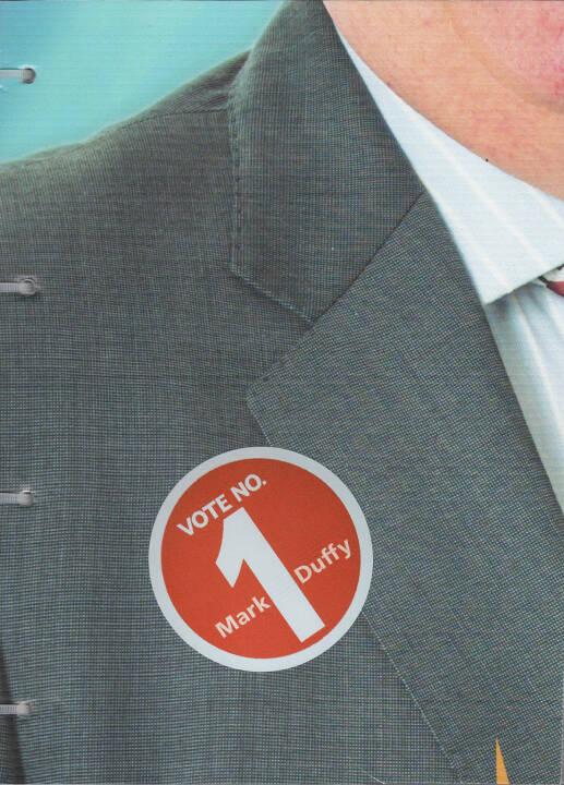 Mark Duffy - VOTE NO. 1, AnzenbergerEdition 2015, Cover - http://josefchladek.com/book/mark_duffy_-_vote_no_1