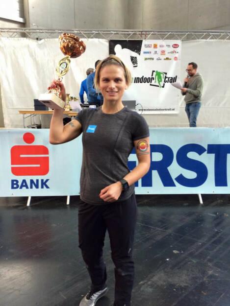 Elisabeth Niedereder: Sieg beim Vienna Indoor Trail Run über die 5km Distanz (13.12.2015)