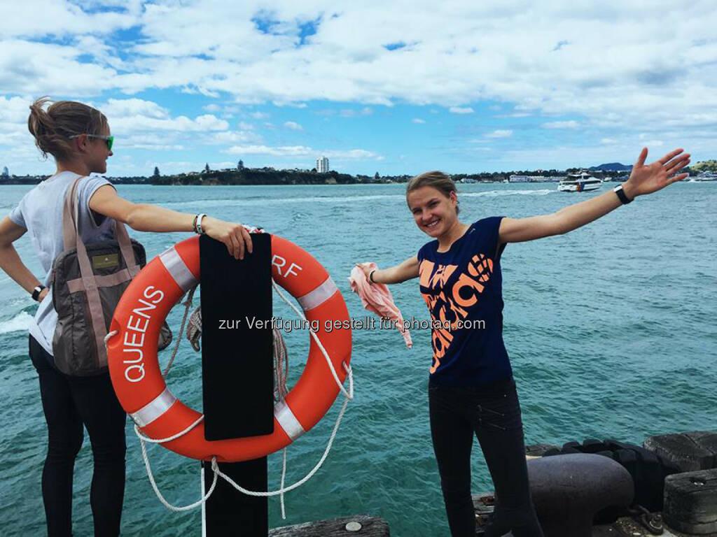 Anna und Lisa Hahner in Auckland, NZ, &copy; <a href=