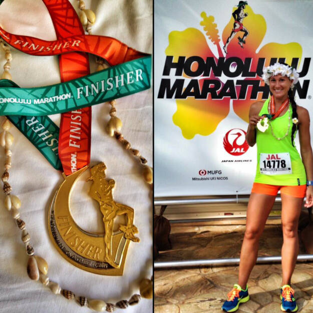 Monika Kalbacher beim Honolulu Marathon, © Diverse  (14.12.2015)
