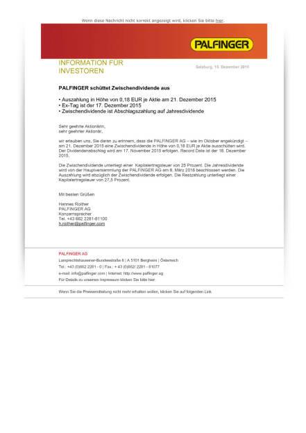 Palfinger schüttet Zwischendividende aus , Seite 1/1, komplettes Dokument unter http://boerse-social.com/static/uploads/file_522_palfinger_schuttet_zwischendividende_aus.pdf (15.12.2015)