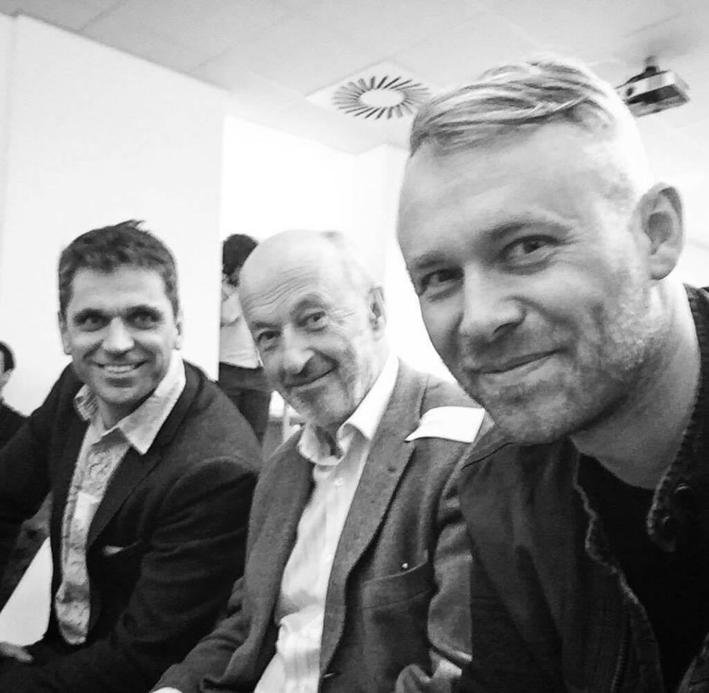 Michael Altrichter, Hansi Hansmann, Niko Alm: startup300 - nun gibt es einen neuen Accelerator im Start-up-Ökosystem. Eine ungewöhnliche Unternehmensgründung mit 68 Business Angels als GmbH-Gesellschafter (Niko Alm), © Aussender (15.12.2015)