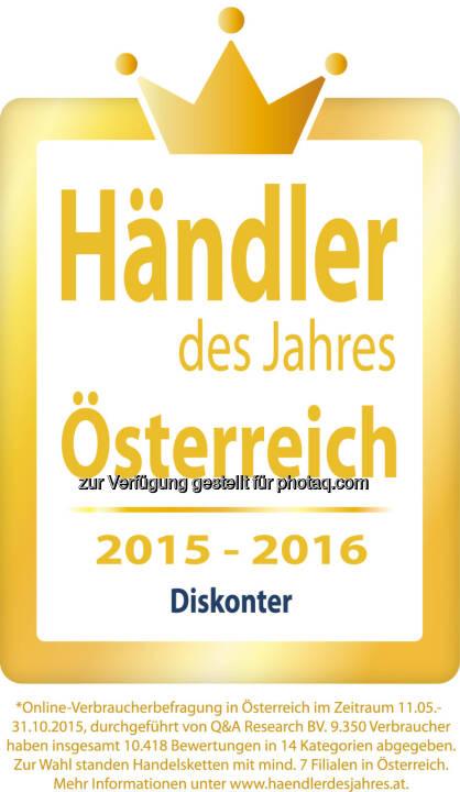 """Lidl Österreich ist Händler des Jahres : Kunden wählen beliebteste Handelsketten : Lidl Österreich belegt in der Kategorie """"Diskonter"""" den ersten Platz : Fotocredit: Lidl Österreich"""