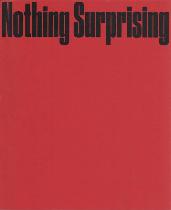 Ali Taptik - Nothing Surprising, Marraine Ginette éditions 2015, Cover - http://josefchladek.com/book/ali_taptik_-_nothing_surprising