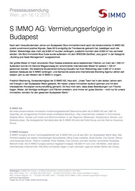 S Immo: Vermietungserfolge in Budapest, Seite 1/1, komplettes Dokument unter http://boerse-social.com/static/uploads/file_528_s_immo_vermietungserfolge_in_budapest.pdf (16.12.2015)