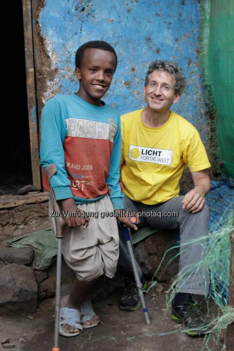 Ashenafi (Äthiopien), Rupert Roniger (GF Licht für die Welt) : 20 Jahre im Einsatz für Licht für die Welt - Rupert Roniger engagiert sich für Menschen mit Behinderungen in den Armutsgebieten der Erde : Fotocredit: Licht für die Welt/Ulrich Eigner