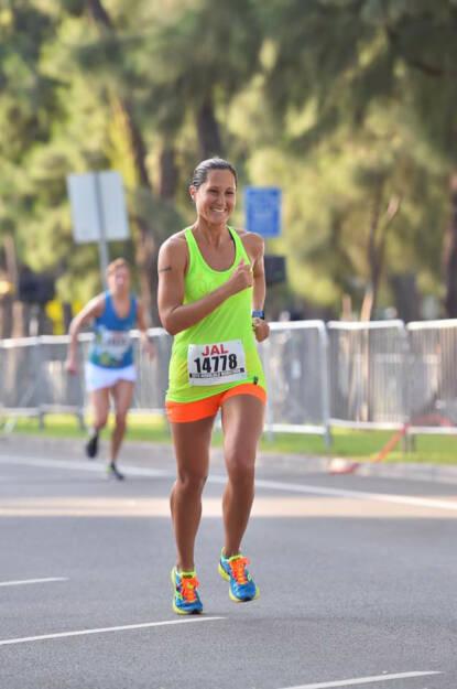 Monika Kalbacher beim Honolulu Marathon, © Diverse  (17.12.2015)