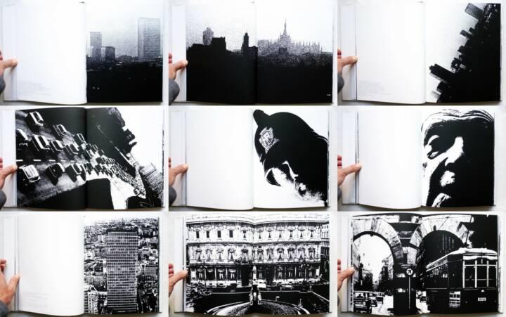 Dante Bighi - Milano Vive, Stampa Poligrafica Boroni 1983, Beispielseiten, sample spreads -http://josefchladek.com/book/dante_bighi_-_milano_vive