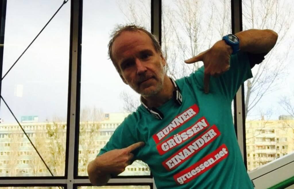 Runner grüssen einander http://www.gruessen.net (22.12.2015)