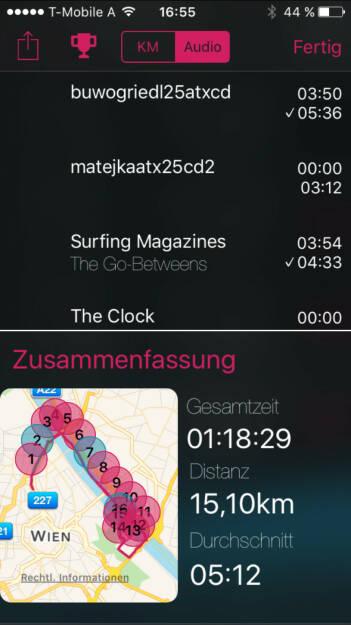 Laufen mit den GoBetweens und den O-Tönen zu 25 Jahre ATX (22.12.2015)