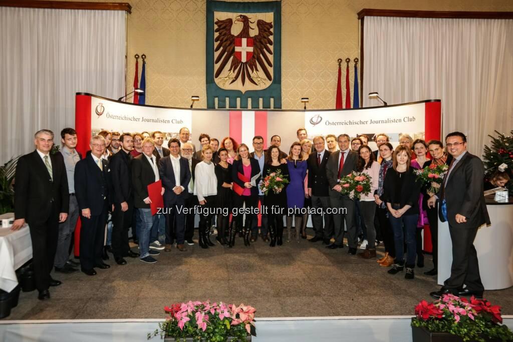 Mailath-Pokorny (Stadtrat), Preisträger, Nominierte und Jurymitglieder Dr. Karl Renner Publizistikpreis 2015: Puls 4 mit Themen-Tag bekommt den Dr. Karl Renner-Publizistikpreis 2015 in der Kategorie TV : Preisträger sind: Markus Schauta (Kategorie Print), Johannes Gelich (Kategorie Radio), Puls 4 (Kategorie TV), dossier.at (Kategorie online) : Fotocredit: ÖJC/H. Hochmuth, © Aussendung (23.12.2015)
