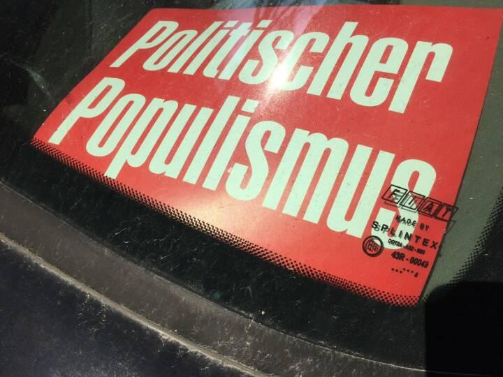Politik Politischer Populismus