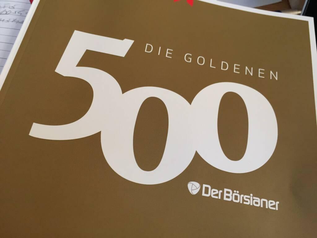 69. bei den Goldenen 500 Börsianern (23.12.2015)