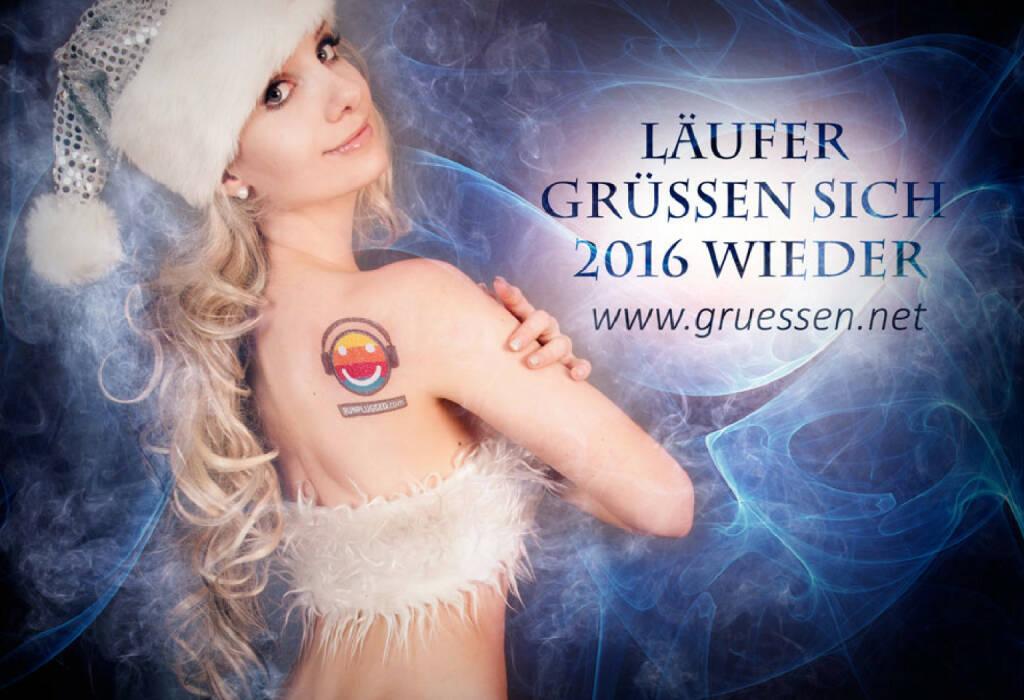Läufer grüssen sich 2016 wieder - Julie Böhm mit www.gruessen.net (24.12.2015)