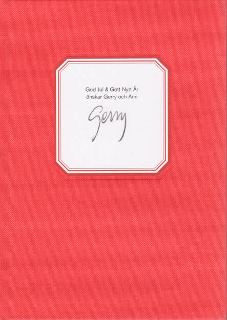 Gerry Johansson - God Jul & Gott Nytt Ar, GunGallery 2011, Cover - http://josefchladek.com/book/gerry_johansson_-_god_jul_gott_nytt_ar, © (c) josefchladek.com (25.12.2015)