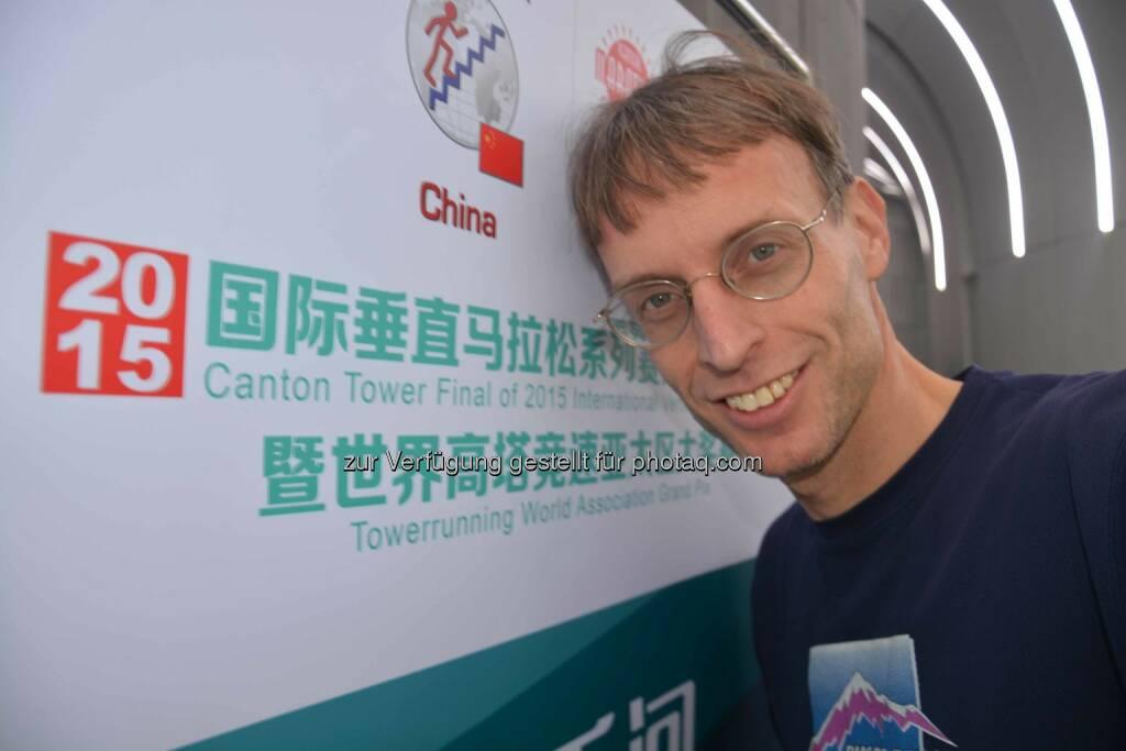 Rolf Majcen: 9. Platz beim Treppenlauf Canton Tower - Grand Prix of China in der chinesischen Metropole Guangzhou., © Aussendung (27.12.2015)